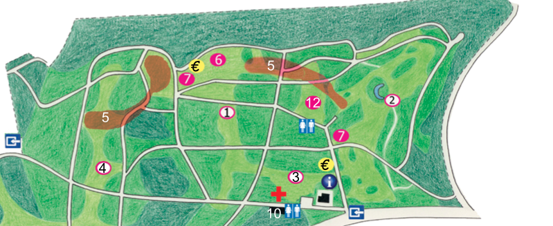 Belmondo Festival plattegrond Arboretum